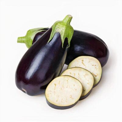 fresh dark eggplant