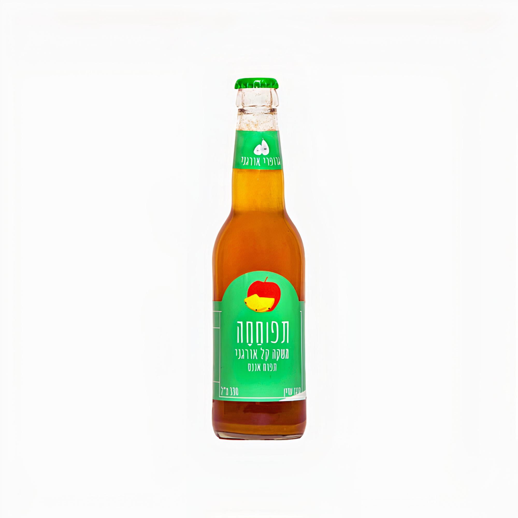 גרופר תפוחחה – משקה מוגז אורגני תפוח ואננס
